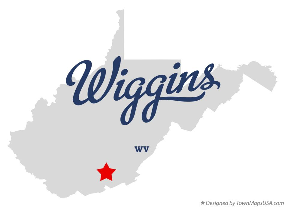 Map of Wiggins West Virginia WV