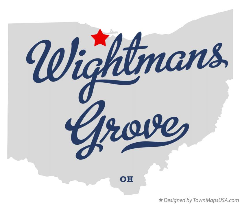 Map of Wightmans Grove Ohio OH