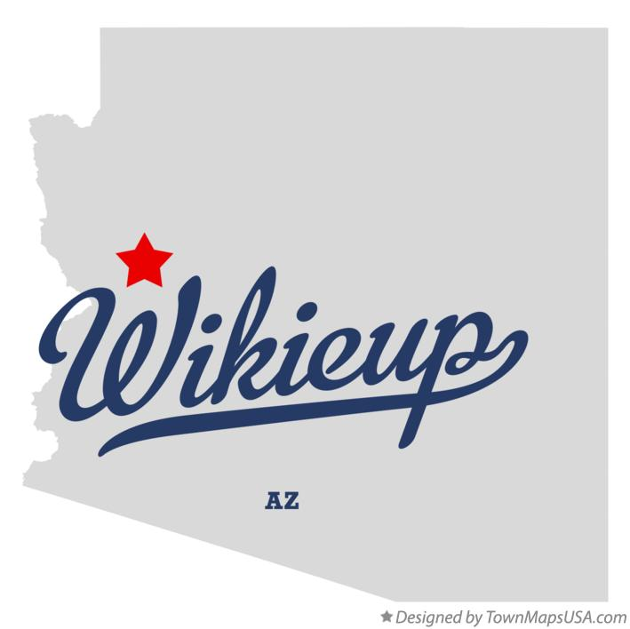 Map of Wikieup Arizona AZ