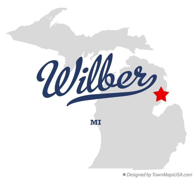 Map of Wilber Michigan MI