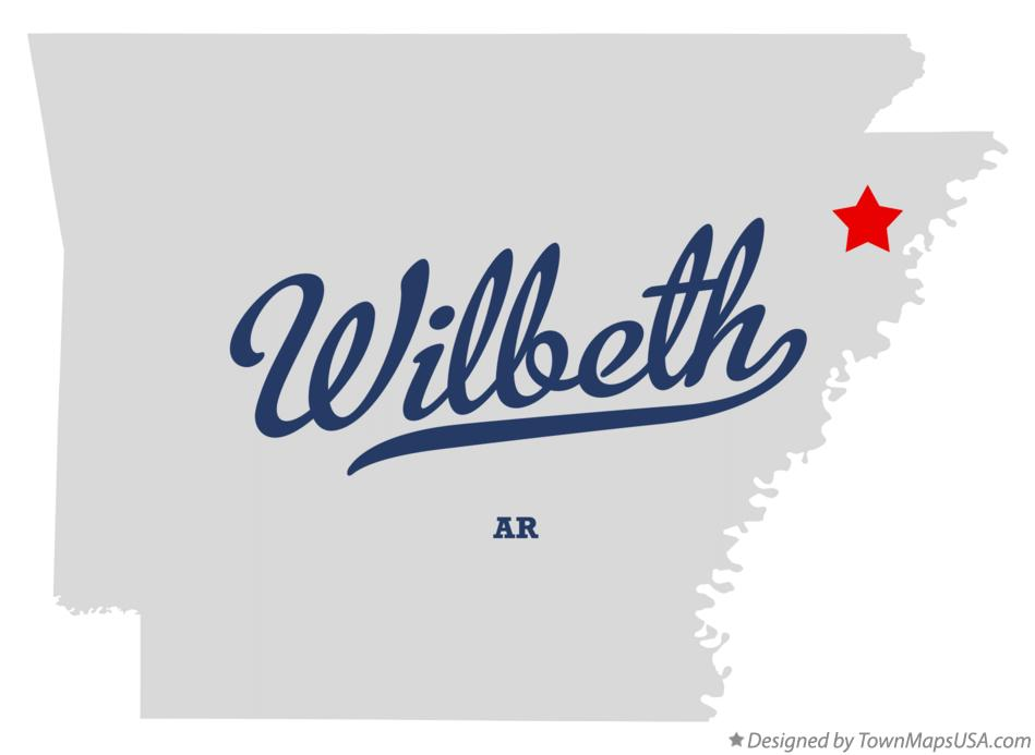 Map of Wilbeth Arkansas AR