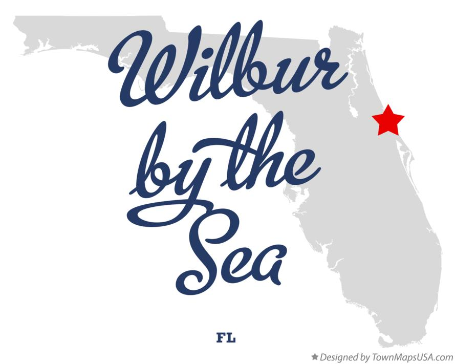 Map of Wilbur-by-the-Sea Florida FL