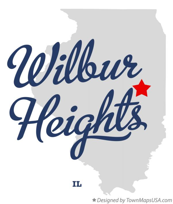 Map of Wilbur Heights Illinois IL