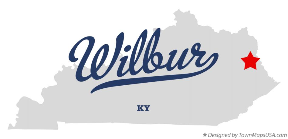 Map of Wilbur Kentucky KY