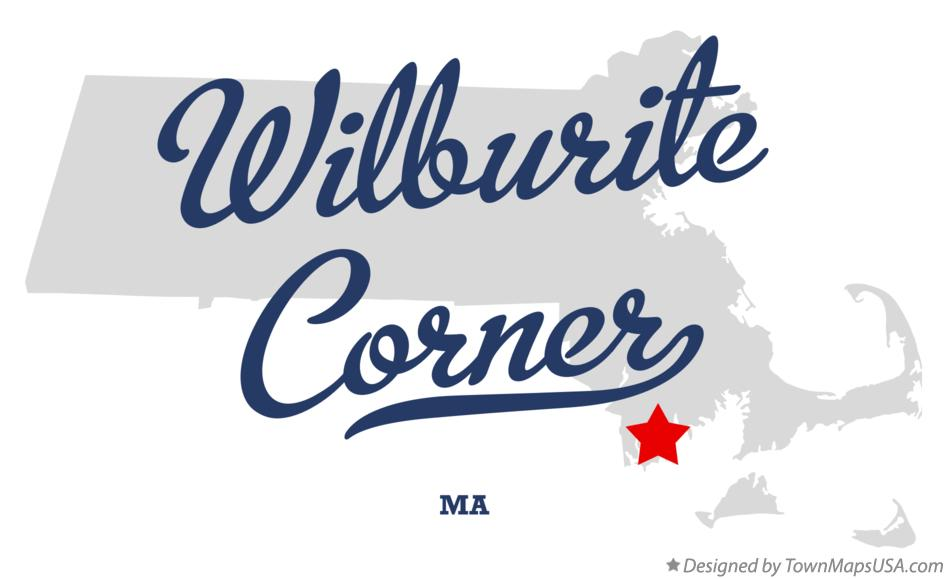 Map of Wilburite Corner Massachusetts MA