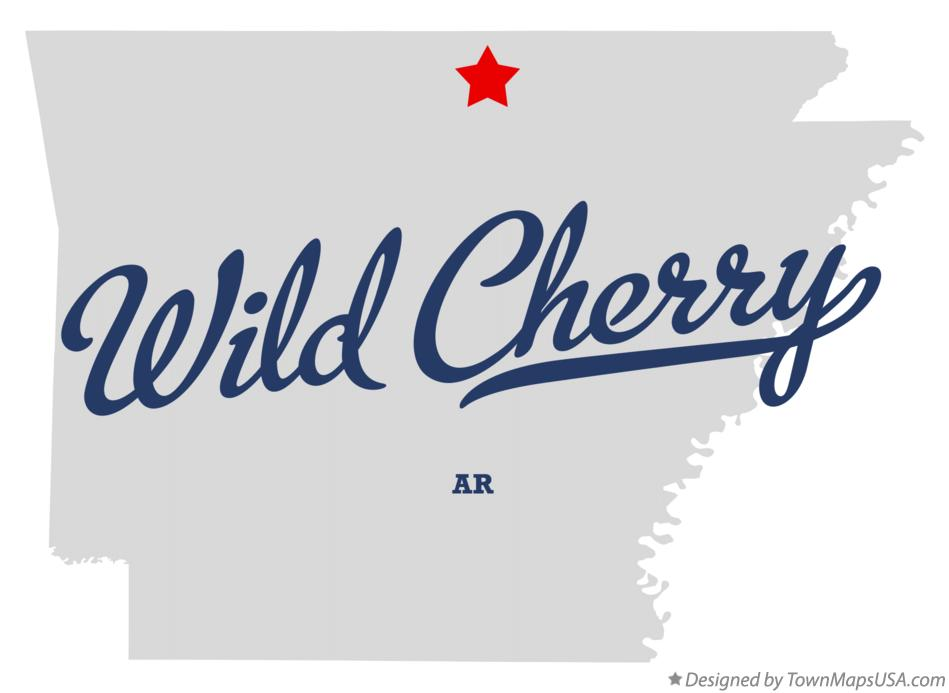 Map of Wild Cherry Arkansas AR