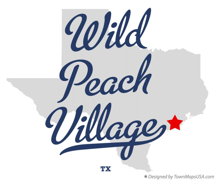 Map of Wild Peach Village Texas TX