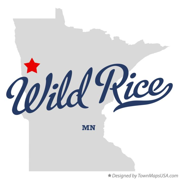 Map of Wild Rice Minnesota MN