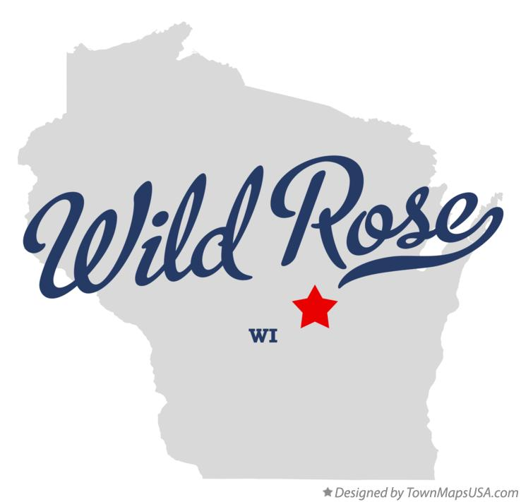 Map of Wild Rose Wisconsin WI