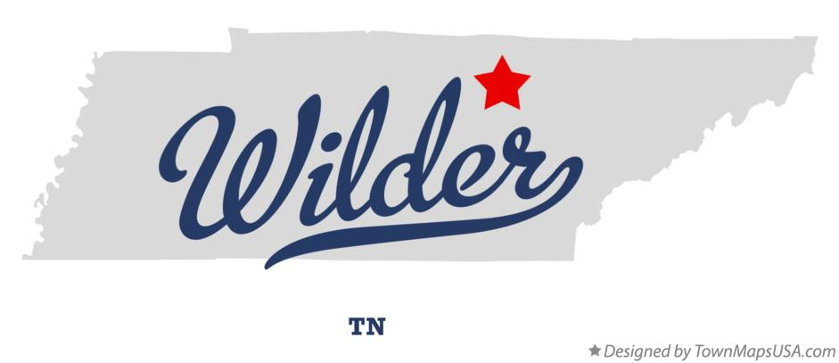 Map of Wilder Tennessee TN