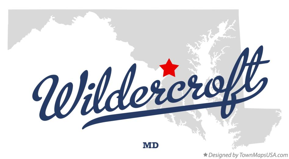 Map of Wildercroft Maryland MD