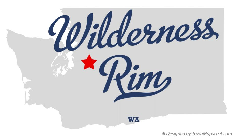 Map of Wilderness Rim Washington WA