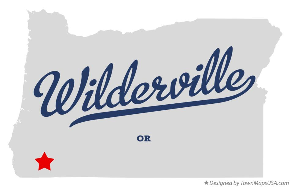 Map of Wilderville Oregon OR