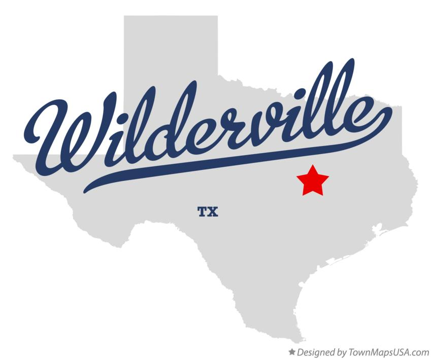 Map of Wilderville Texas TX