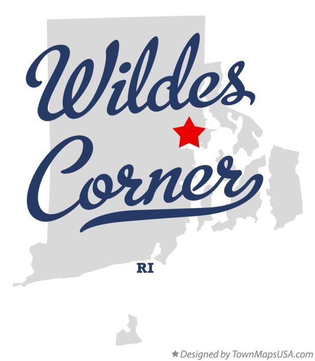 Map of Wildes Corner Rhode Island RI