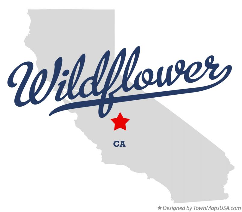 Map of Wildflower California CA