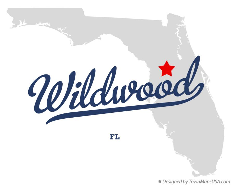 Map of Wildwood Florida FL