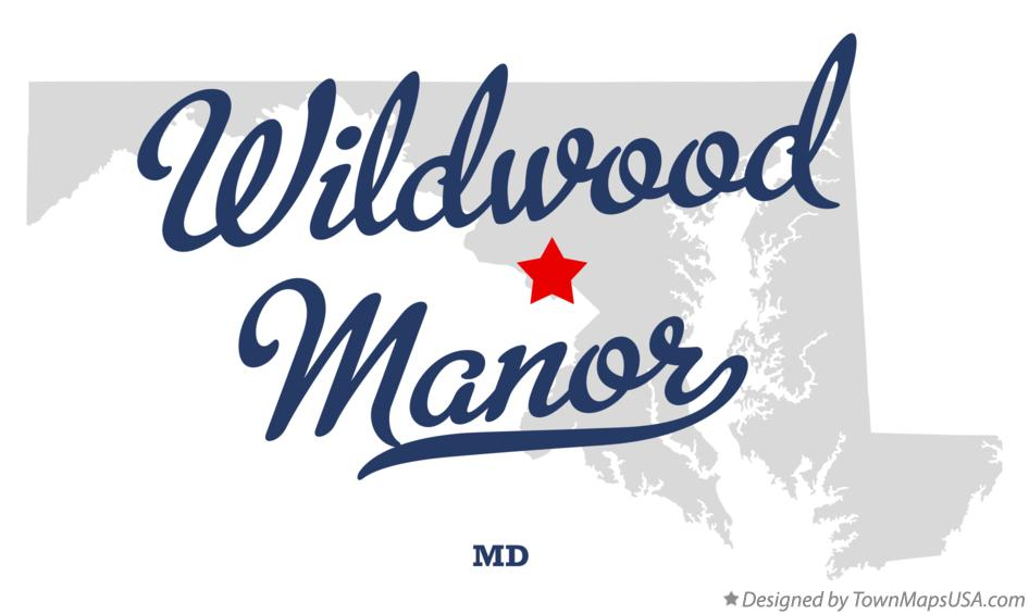 Map of Wildwood Manor Maryland MD