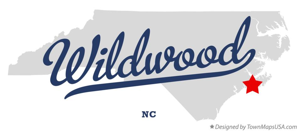 Map of Wildwood North Carolina NC