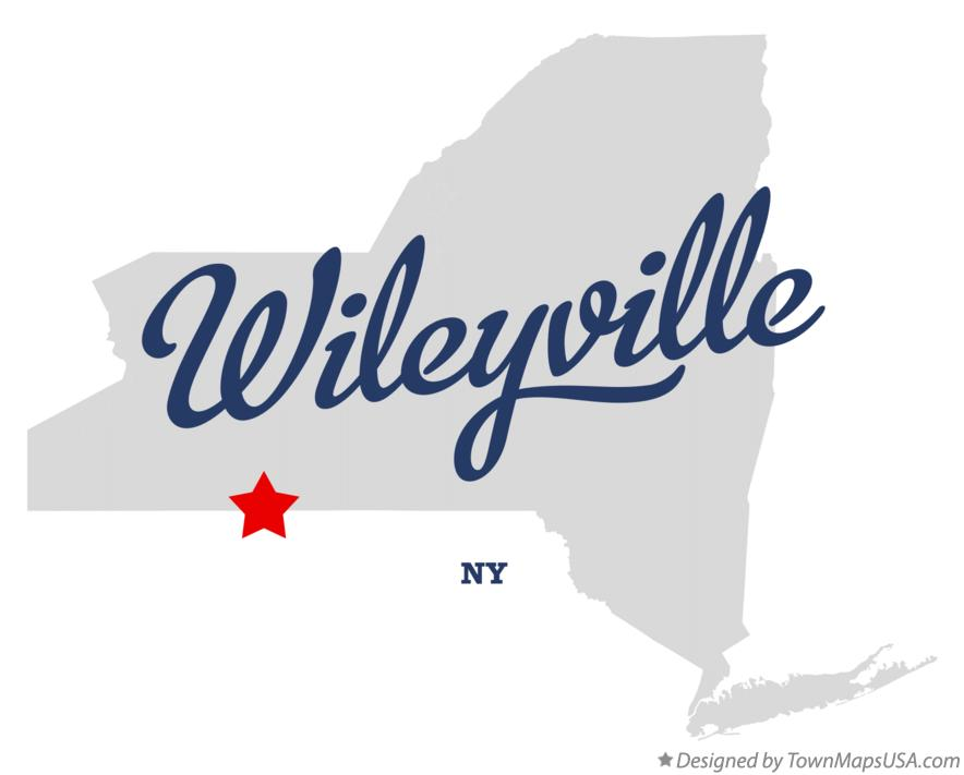 Map of Wileyville New York NY