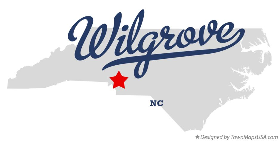 Map of Wilgrove North Carolina NC
