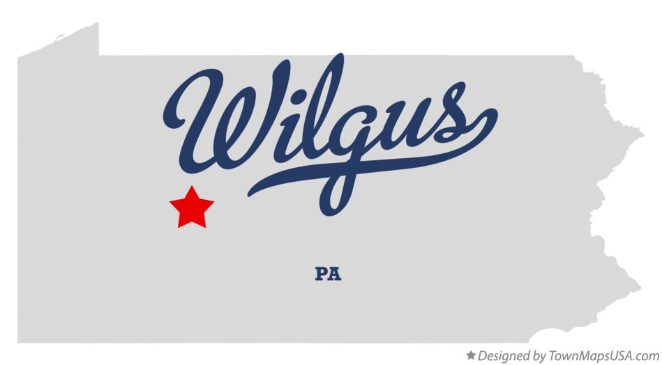 Map of Wilgus Pennsylvania PA