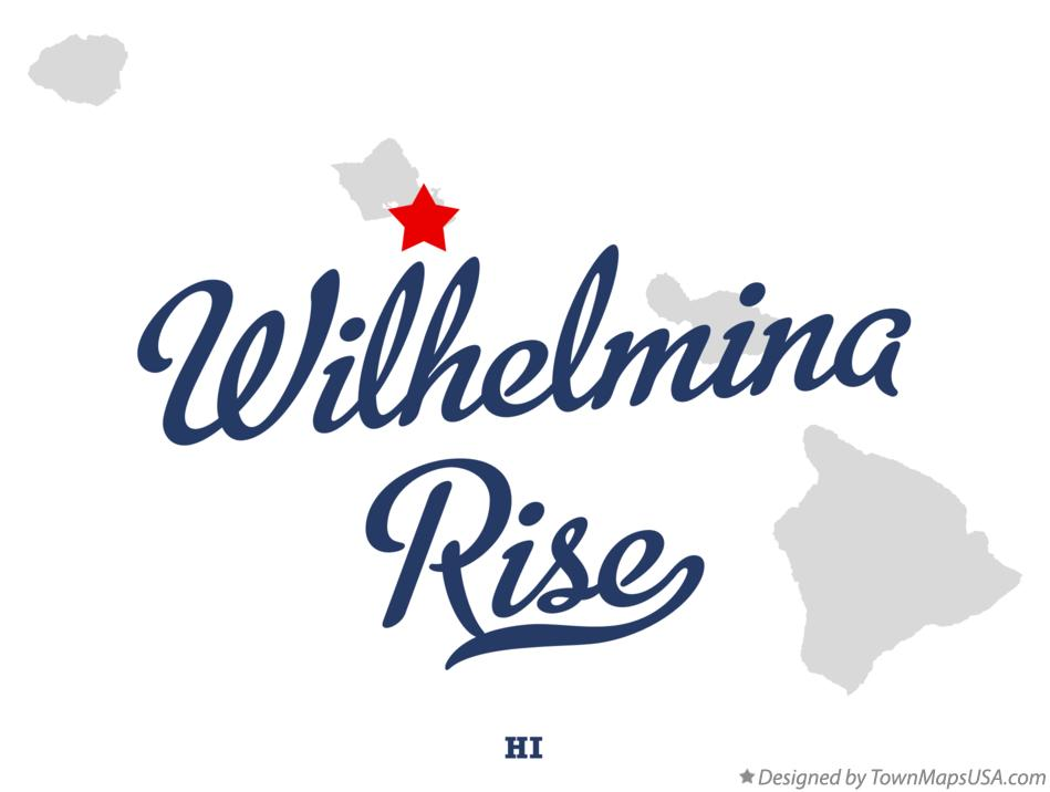 Map of Wilhelmina Rise Hawaii HI