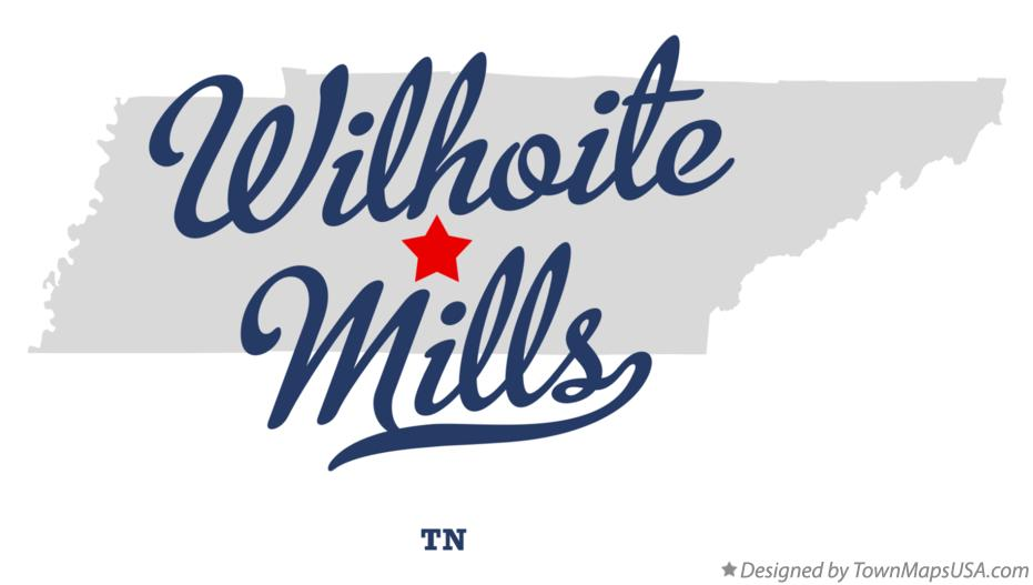 Map of Wilhoite Mills Tennessee TN