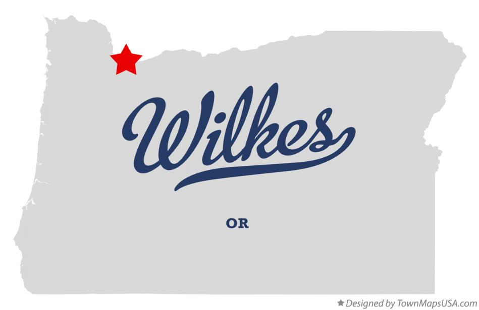Map of Wilkes Oregon OR