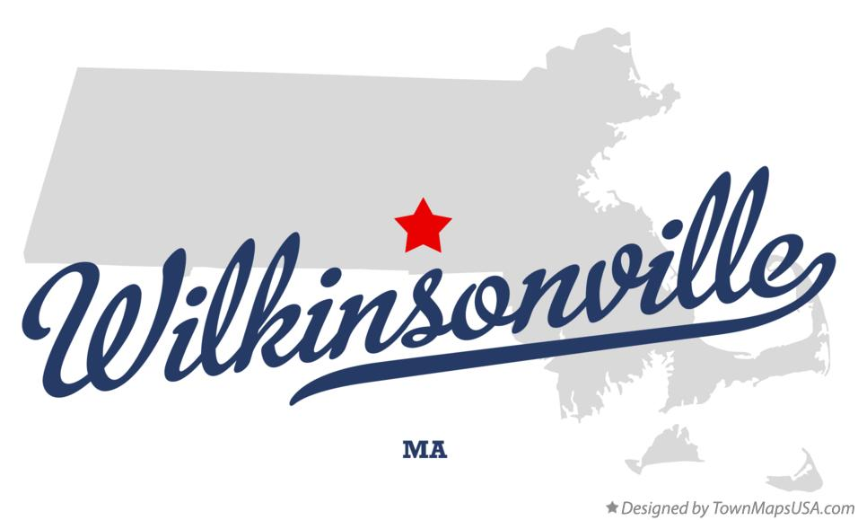 Map of Wilkinsonville Massachusetts MA