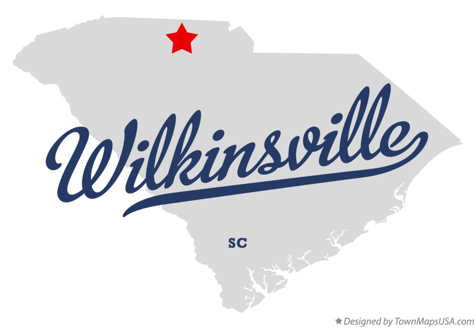 Map of Wilkinsville South Carolina SC