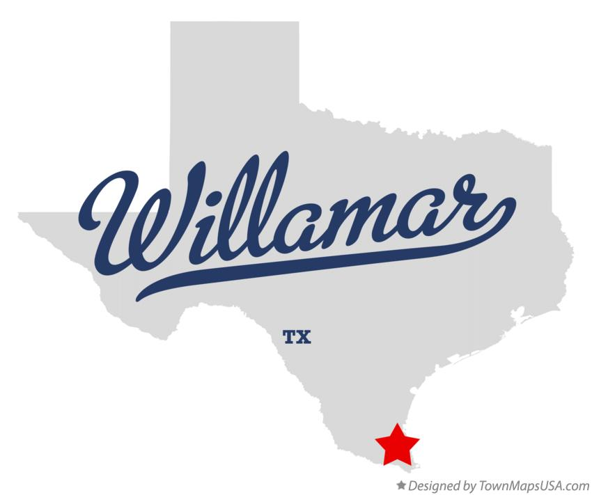 Map of Willamar Texas TX