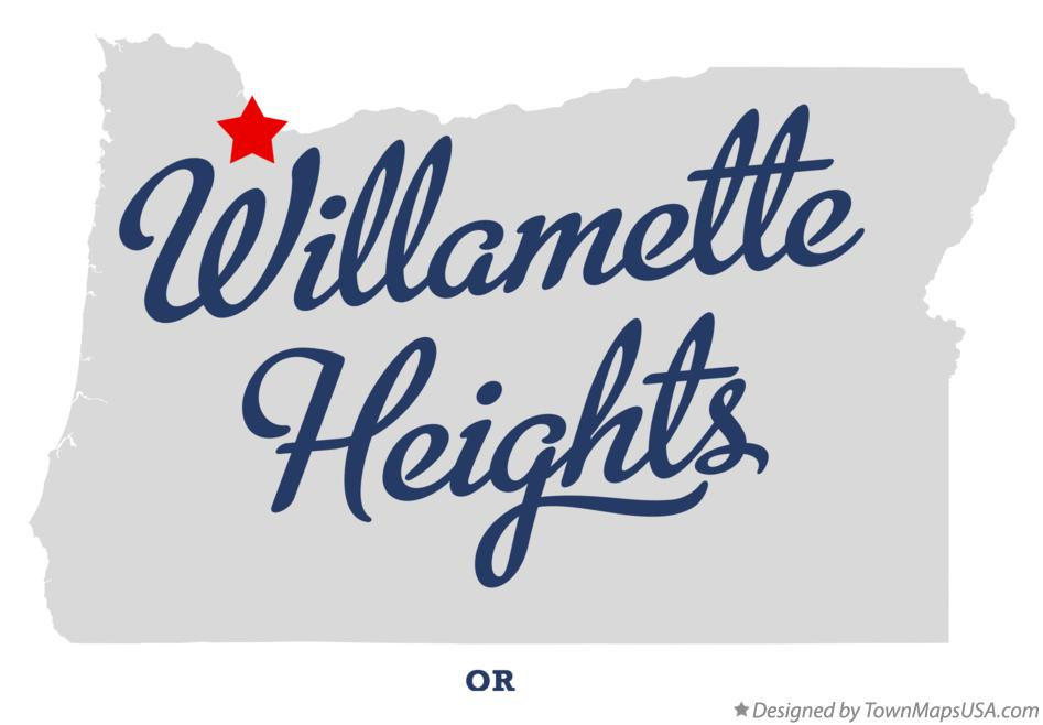 Map of Willamette Heights Oregon OR