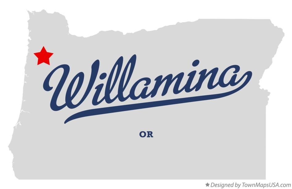 Map of Willamina Oregon OR
