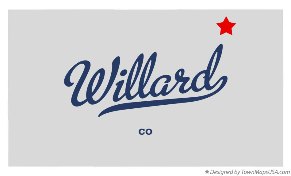 Map of Willard Colorado CO