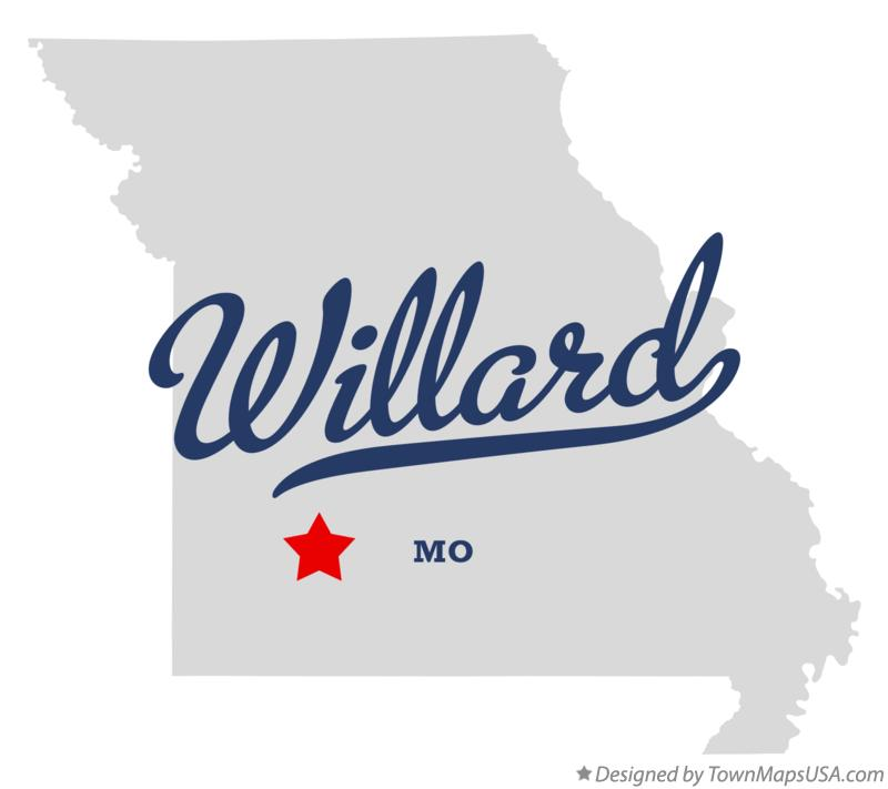 Map of Willard Missouri MO