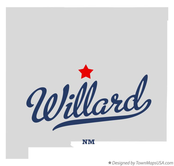 Map of Willard New Mexico NM