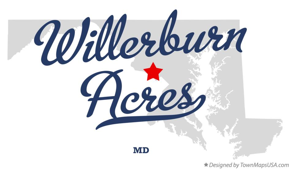 Map of Willerburn Acres Maryland MD