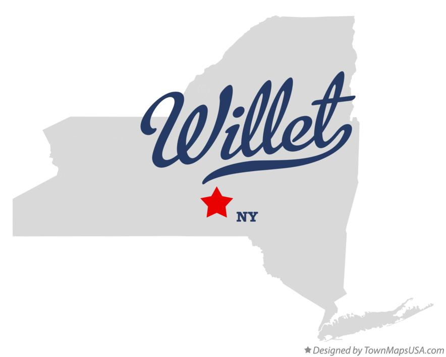 Map of Willet New York NY