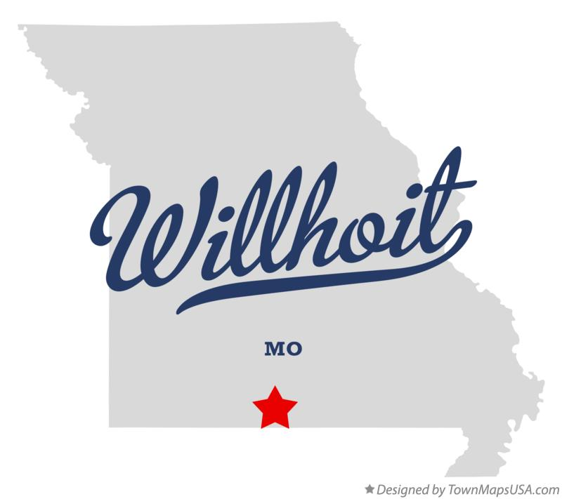 Map of Willhoit Missouri MO