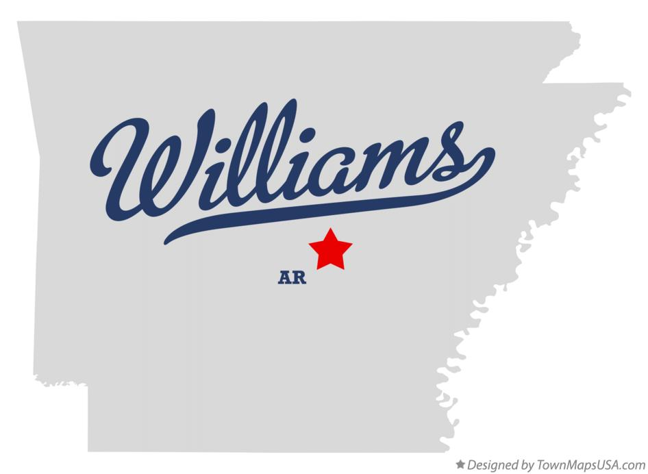 Map of Williams Arkansas AR