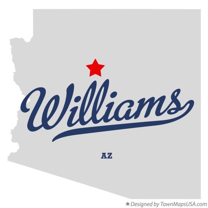 Map of Williams Arizona AZ