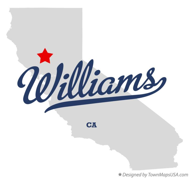 Map of Williams California CA