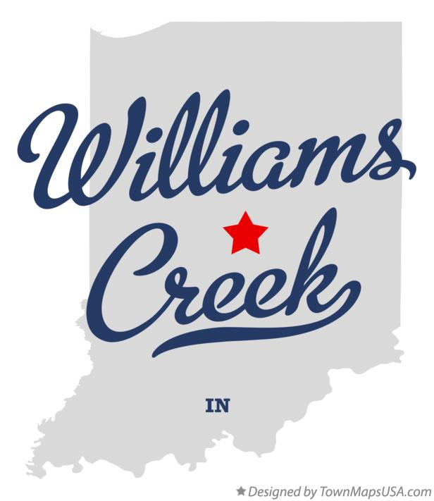 Map of Williams Creek Indiana IN