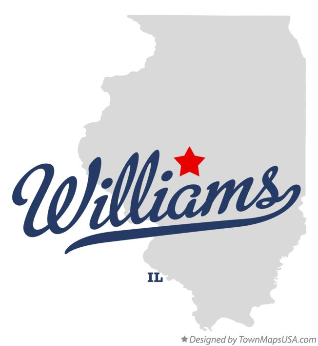 Map of Williams Illinois IL