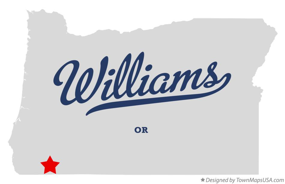 Map of Williams Oregon OR