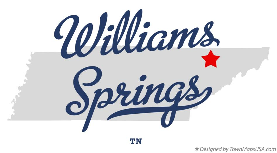 Map of Williams Springs Tennessee TN