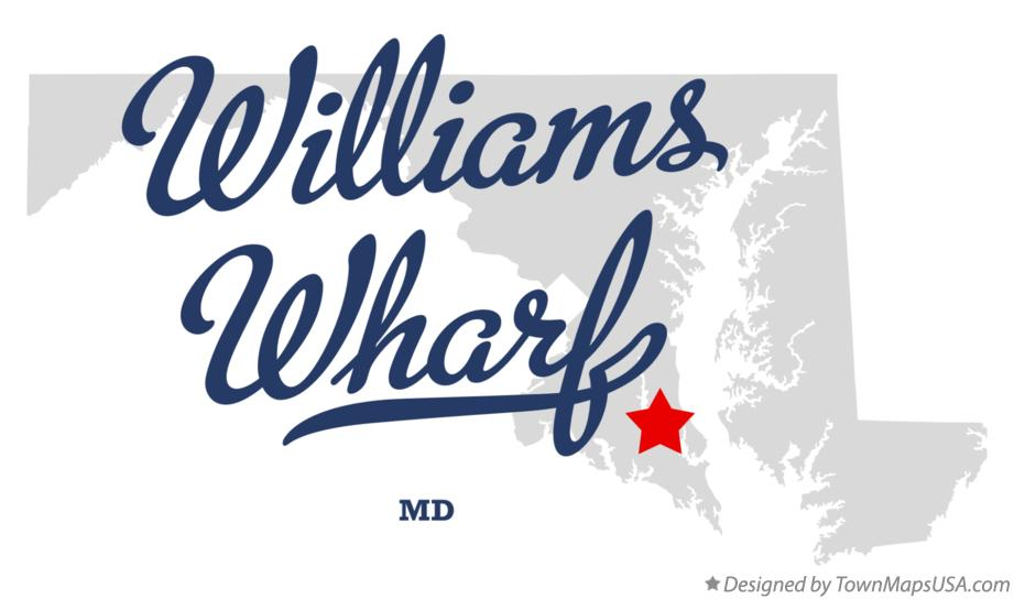 Map of Williams Wharf Maryland MD