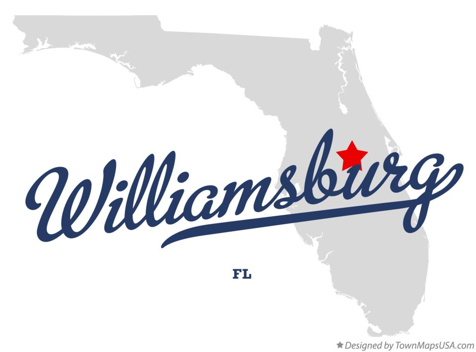Map of Williamsburg Florida FL