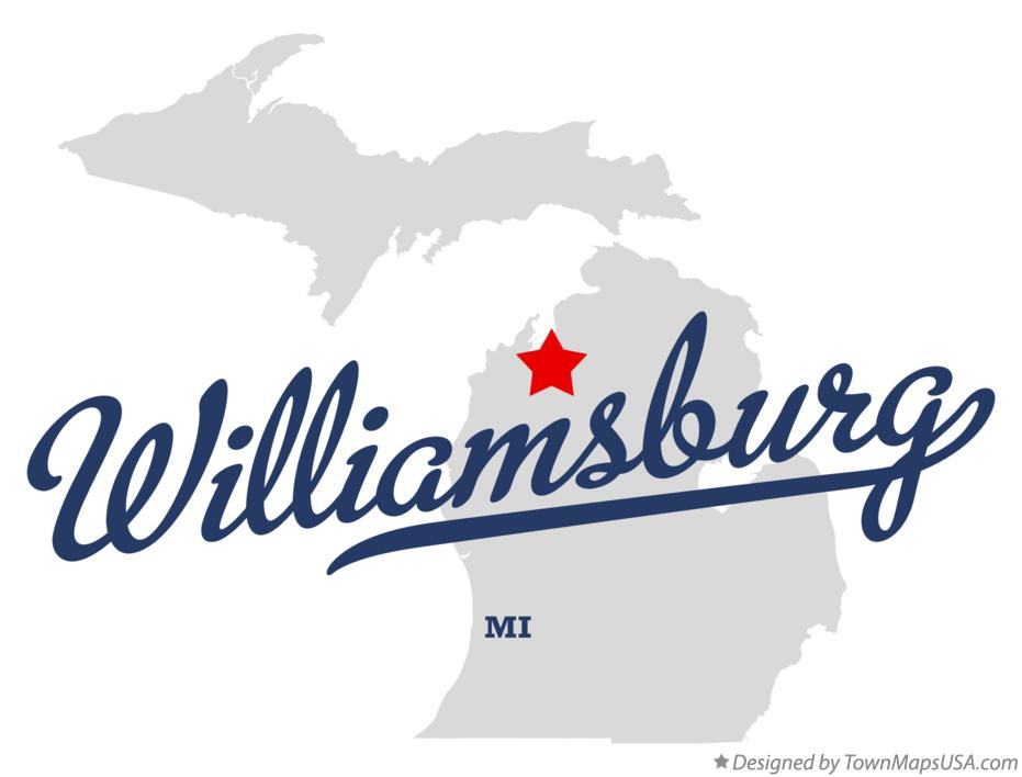 Map of Williamsburg Michigan MI